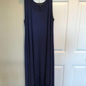 Lane Bryant navy blue high low stretch dress NEW